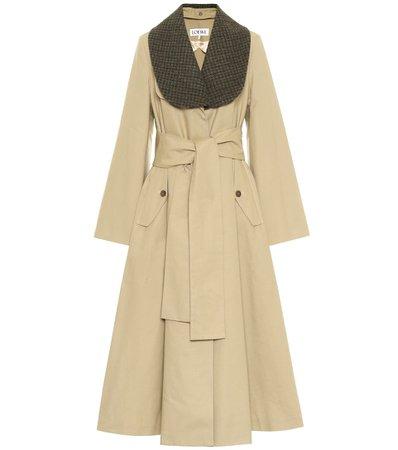 Loewe - Cotton twill coat   Mytheresa