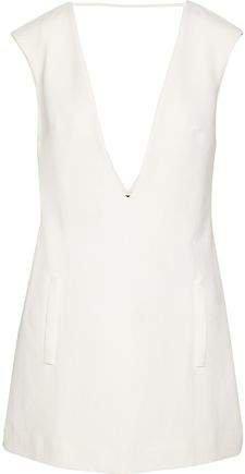 Open-back Crepe Mini Dress