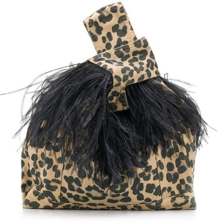 Furrísima tote with feathers