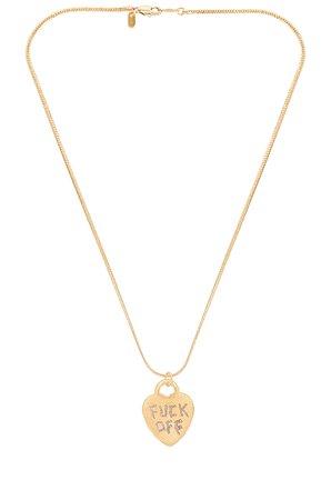Vanessa Mooney Fuck Off Necklace in Gold | REVOLVE
