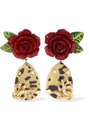 Dolce & Gabbana   Gold-tone faux pearl clip earrings   NET-A-PORTER.COM