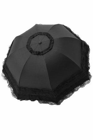 Black Lace Telescopic Gothic Umbrella Parasol | Gothic