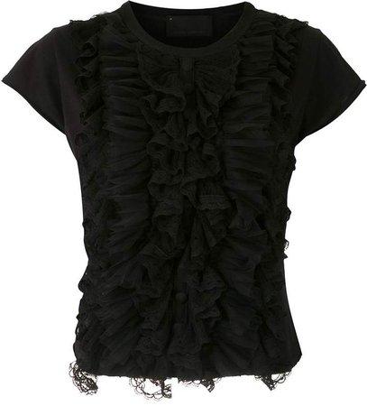 Andrea Bogosian Rochelle lace panelled T-shirt