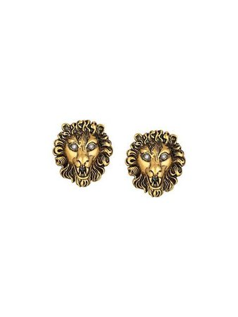 Gucci Lion Head Earrings