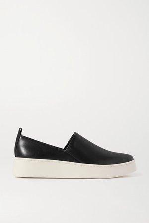Saxon Leather Sneakers - Black