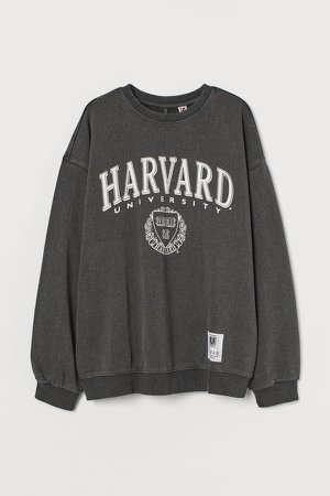 Printed Sweatshirt - Black