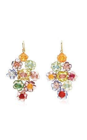 One of a Kind Tropical Flower Earrings by Irene Neuwirth | Moda Operandi