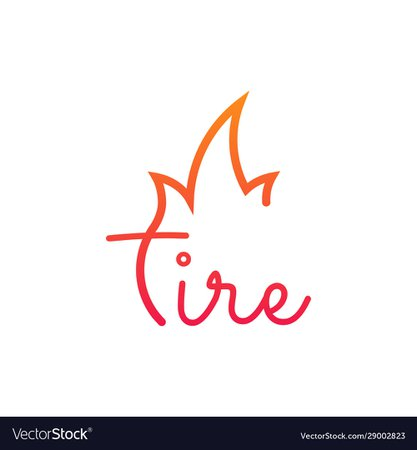 Fire or flame typographic logo isolated on white Vector Image