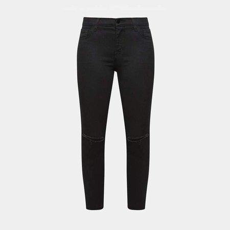 J Brand Mid Rise Capri Jean