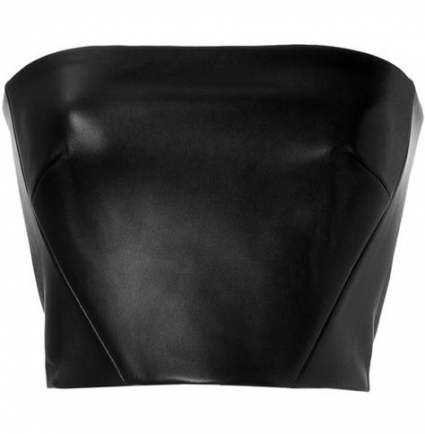 Black Leather Tube Top