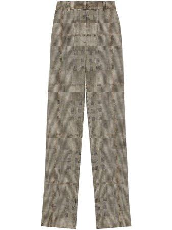 Burberry Jodhpur Check Print Trousers - Farfetch