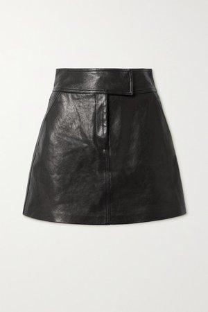 Giulia Leather Mini Skirt - Black