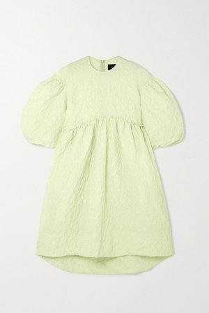 Green Ruffled cloqué midi dress | Simone Rocha | NET-A-PORTER