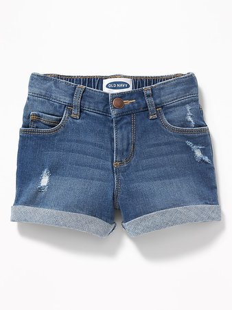 Cuffed Denim Shorts for Toddler Girls | Old Navy
