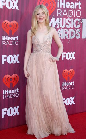 Elle Fanning from 2019 iHeartRadio Music Awards Red Carpet Fashion