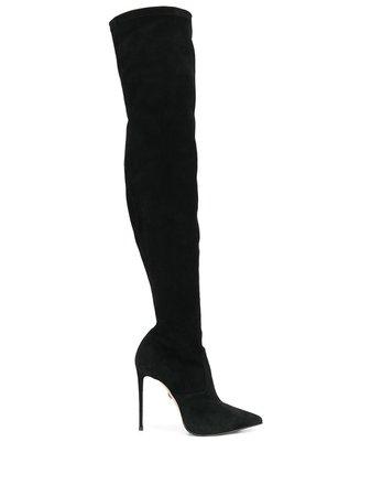 Shop black Le Silla Eva stretch boots with Express Delivery - Farfetch