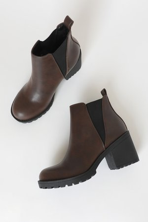 Dirty Laundry Lisbon - Dark Brown High Heel Booties - Ankle Boot