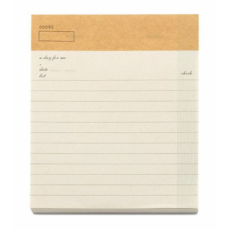 Check List Note Pad A5, Light Brown