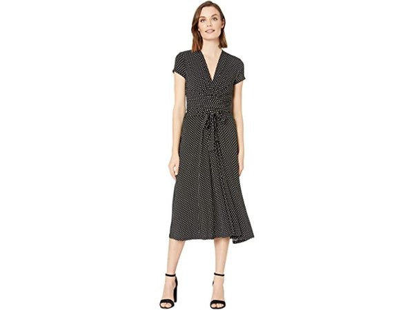 MICHAEL Michael Kors Dot Midi Wrap Dress | Zappos.com