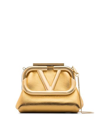 Valentino Garavani VLOGO Mini Clutch Bag - Farfetch