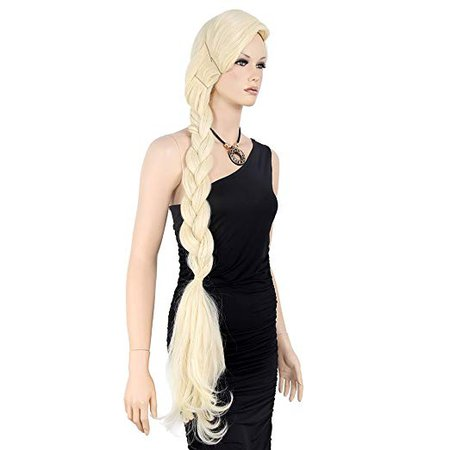 Amazon.com: STfantasy Elsa Cosplay Wig Braid Long Straight for Women Halloween Party Hair with Cap 47 Inches Blonde: Beauty