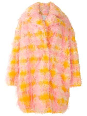 Shop multicolour À La Garçonne oversized furry coat with Express Delivery - Farfetch