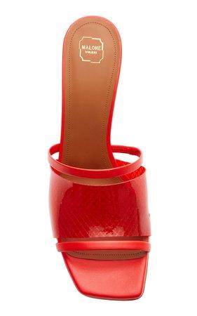 Demi PVC and Leather Sandals by Malone Souliers   Moda Operandi