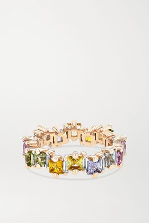 Rose gold 18-karat rose gold, sapphire and diamond ring | Suzanne Kalan | NET-A-PORTER