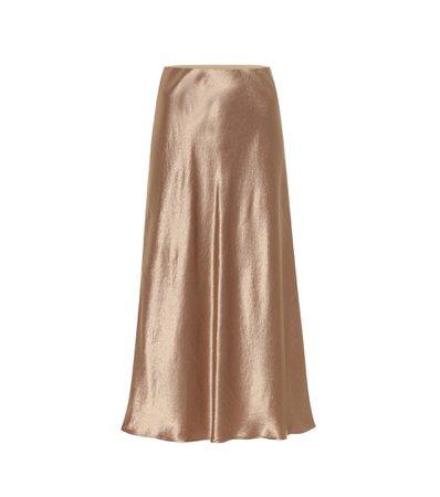 Max Mara, Alessio high-rise satin skirt