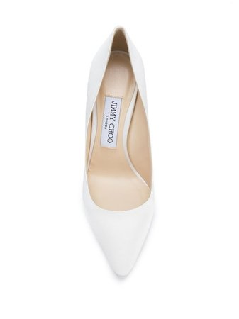 Shop white Jimmy Choo Romy 100 pumps with Express Delivery - Farfetch