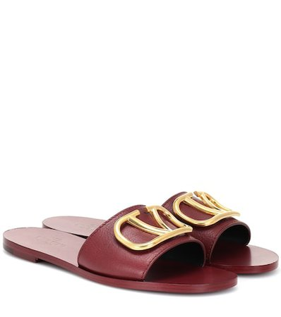 Valentino Garavani Go Logo leather slides