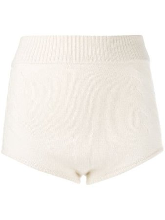 Cashmere In Love Knit MIMIE Shorts MIMIE White | Farfetch
