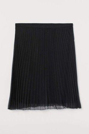 H&M+ Pleated Skirt - Black