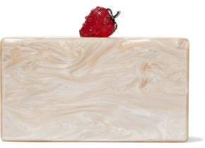 Jean Strawberry Marbled Acrylic Box Clutch