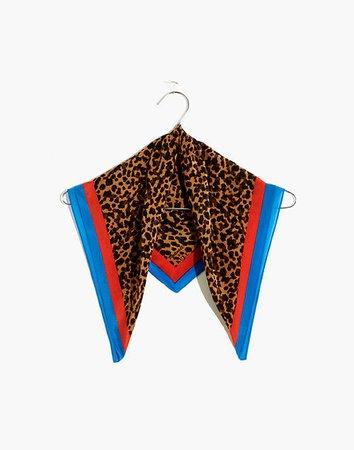 Madewell x Kule Silk Leopard Bandana