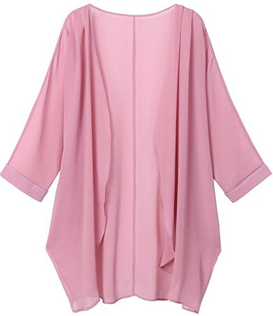 OLRAIN Women's Floral Print Sheer Chiffon Loose Kimono Cardigan Capes at Amazon Women's Clothing store