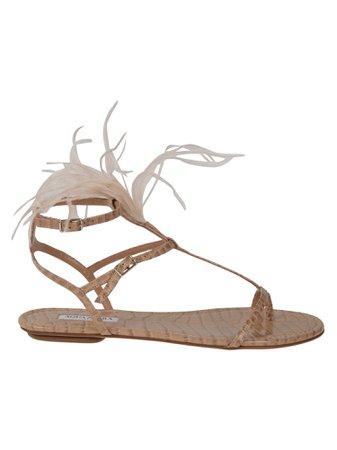 Aquazzura Ponza Flat Sandals