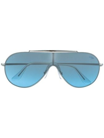 Ray-Ban Wings Aviator Sunglasses RB3597 Metallic | Farfetch