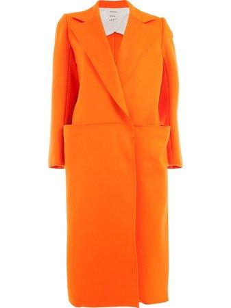 Maison Rabih Kayrouz concealed front coat - FARFETCH