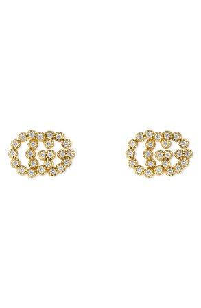Gucci Double-G Diamond Stud Earrings | Nordstrom