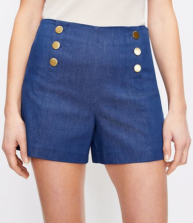 The High Waist Admiral Short in Refined Denim