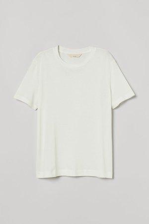 Silk-blend T-shirt - White