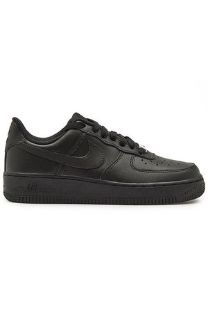Nike - Air Force 1 '07 Leather Sneakers - black