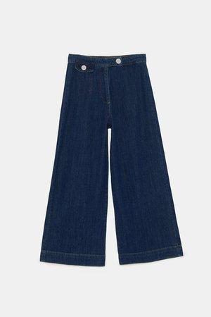 JEAN ZW PREMIUM MARINE CULOTTE ATLANTIC BLUE - Jupe-culottes-Choisir sa coupe-JEANS   DENIM-FEMME   ZARA France