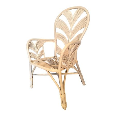 Mid Century Rattan Palm Tree Back Chair - 10 Available   Chairish