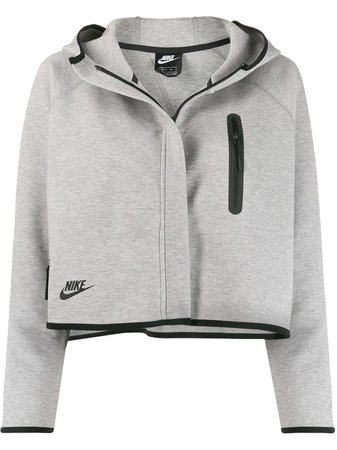 Nike Tech Fleece Cropped Hooded Jacket   Farfetch.com