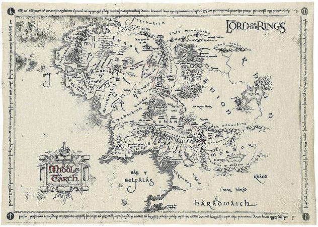 Middle Earth Map | El Señor de los Anillos Póster | EMP