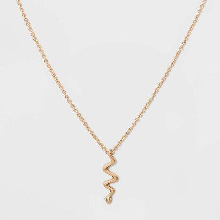 Snake Short Necklace - Gold : Target