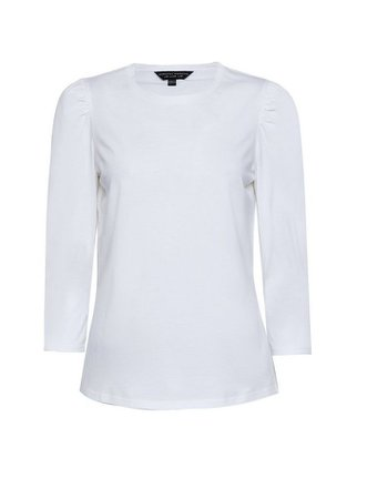 White Puff Sleeve Top | Dorothy Perkins