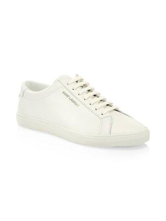 Saint Laurent Andy Leather Low-Top Sneakers | SaksFifthAvenue